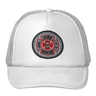 Fuego y rescate gorras de camionero