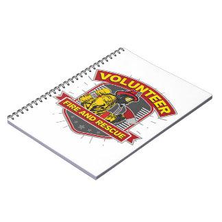 Fuego y rescate voluntarios libretas