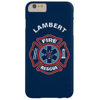 Fuego y rojo y azul del rescate funda barely there iPhone 6 plus