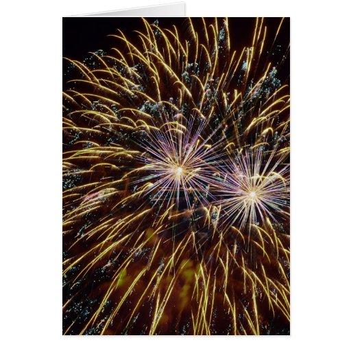 Fuegos artificiales (11) tarjeta de felicitación