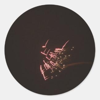 Fuegos artificiales 2 pegatina redonda