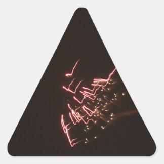 Fuegos artificiales 2 pegatina triangular