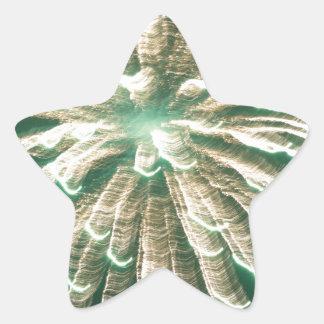 Fuegos artificiales 3 pegatina en forma de estrella