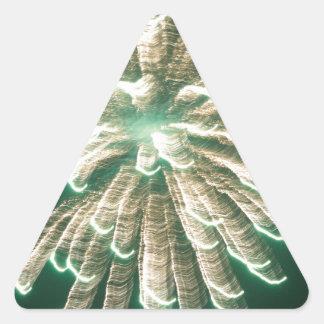Fuegos artificiales 3 pegatina triangular