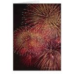 Fuegos artificiales 3 tarjeta de felicitación