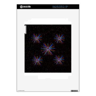 Fuegos artificiales 4tos del Año Nuevo de julio de iPad 2 Calcomanías