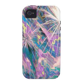 Fuegos artificiales abstractos Case-Mate iPhone 4 carcasas
