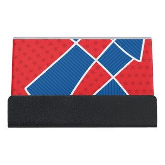 Fuegos artificiales americanos patrióticos caja de tarjetas de visita para escritorio