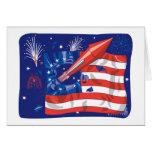 Fuegos artificiales americanos tarjeta