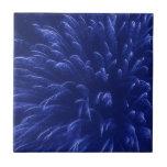 Fuegos artificiales azules (2) azulejo cerámica