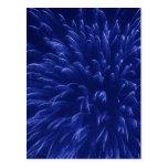 Fuegos artificiales azules (2) postal