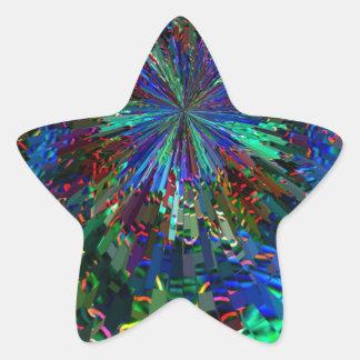 Fuegos artificiales AZULES de la chispa de Pegatina En Forma De Estrella