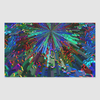 Fuegos artificiales AZULES de la chispa de Pegatina Rectangular