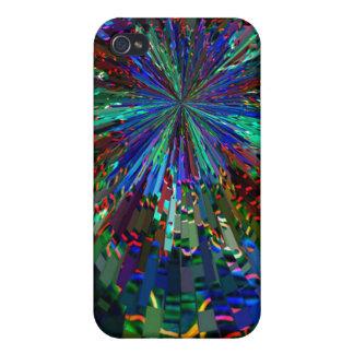 Fuegos artificiales AZULES de la chispa de Zinzell iPhone 4/4S Fundas