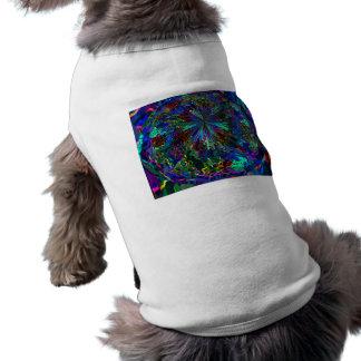 Fuegos artificiales AZULES de la chispa de Zinzell Camisa De Perro
