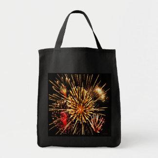 Fuegos artificiales bolsa tela para la compra