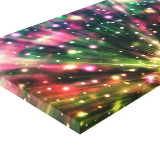 Fuegos artificiales brillantes impresión en lienzo