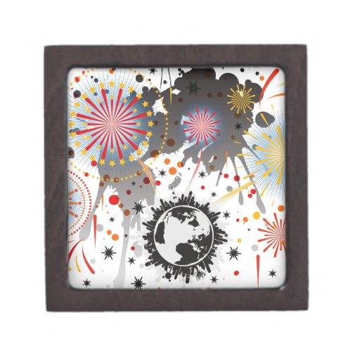 Fuegos artificiales caja de recuerdo de calidad