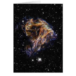 Fuegos artificiales celestiales tarjeta de felicitación