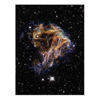 Fuegos artificiales celestiales postal