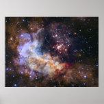 Fuegos artificiales celestiales - Westerlund 2 Póster