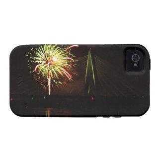 Fuegos artificiales Christopher S. Bond Bridge iPhone 4 Carcasas