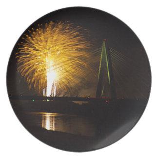 Fuegos artificiales Christopher S. Bond Bridge Kan Plato Para Fiesta