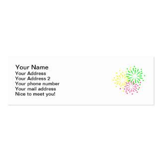 Fuegos artificiales coloreados tarjeta de visita