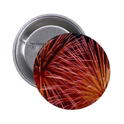 Fuegos artificiales coloridos, día de Canadá Pins