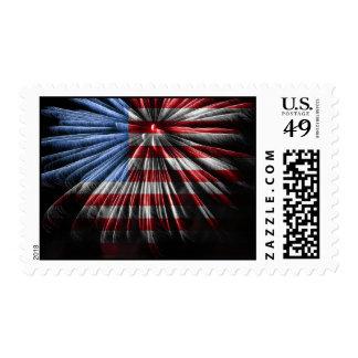Fuegos artificiales de la bandera sellos