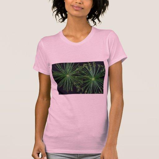 Fuegos artificiales de la juncia de la planta camiseta