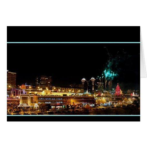 Fuegos artificiales de la plaza de Kansas City, Tarjeta De Felicitación
