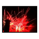 Fuegos artificiales de las iluminaciones tarjetas postales