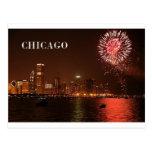 Fuegos artificiales de los E.E.U.U. Chicago Postal
