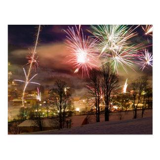 Fuegos artificiales de Noche Vieja en Niederau el Postales