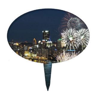 Fuegos artificiales de Pittsburgh Decoraciones Para Tartas