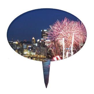 Fuegos artificiales de Pittsburgh Figuras De Tarta