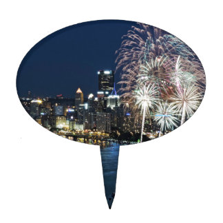 Fuegos artificiales de Pittsburgh Decoraciones De Tartas