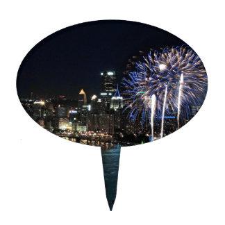 Fuegos artificiales de Pittsburgh Palillos De Tarta