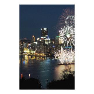 Fuegos artificiales de Pittsburgh Personalized Stationery