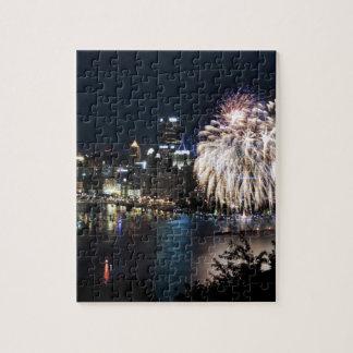 Fuegos artificiales de Pittsburgh Puzzles Con Fotos