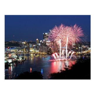 Fuegos artificiales de Pittsburgh Postales