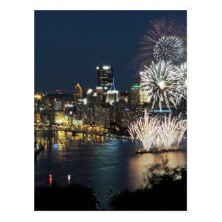 Fuegos artificiales de Pittsburgh Postal