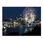 Fuegos artificiales de Pittsburgh Tarjetas Postales