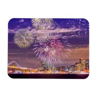 Fuegos artificiales del Año Nuevo de San Francisco Imanes Flexibles