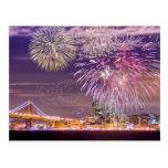 Fuegos artificiales del Año Nuevo de San Francisco Postal
