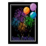 Fuegos artificiales del cumpleaños tarjetas