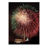 Fuegos artificiales del Día de la Independencia so Postales