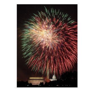 Fuegos artificiales del Día de la Independencia Tarjetas Postales