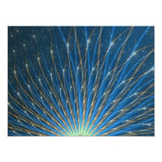 Fuegos artificiales del fractal fotografía
